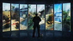 Plano de fundo dos mapas do jogo